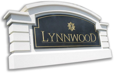 custom stucco monument signs